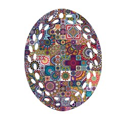 Ornamental Mosaic Background Ornament (oval Filigree)