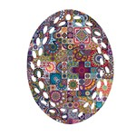 Ornamental Mosaic Background Ornament (Oval Filigree)  Front