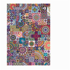 Ornamental Mosaic Background Large Garden Flag (two Sides)