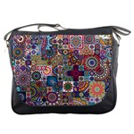Ornamental Mosaic Background Messenger Bags