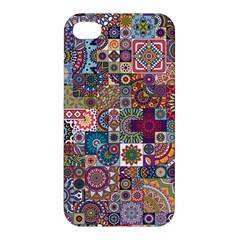 Ornamental Mosaic Background Apple iPhone 4/4S Premium Hardshell Case
