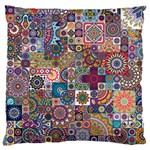Ornamental Mosaic Background Large Cushion Case (Two Sides) Back