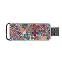 Ornamental Mosaic Background Portable Usb Flash (two Sides)