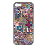 Ornamental Mosaic Background Apple iPhone 5 Case (Silver)