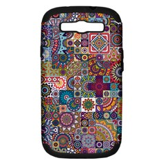 Ornamental Mosaic Background Samsung Galaxy S Iii Hardshell Case (pc+silicone) by TastefulDesigns