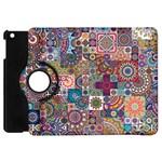 Ornamental Mosaic Background Apple iPad Mini Flip 360 Case Front