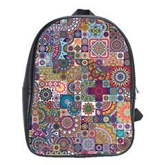 Ornamental Mosaic Background School Bags (XL)