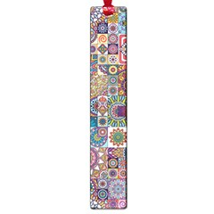 Ornamental Mosaic Background Large Book Marks