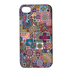 Ornamental Mosaic Background Apple iPhone 4/4S Hardshell Case with Stand