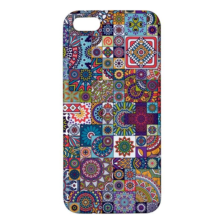 Ornamental Mosaic Background Apple iPhone 5 Premium Hardshell Case