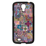 Ornamental Mosaic Background Samsung Galaxy S4 I9500/ I9505 Case (Black)