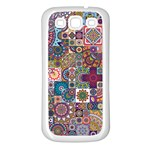 Ornamental Mosaic Background Samsung Galaxy S3 Back Case (White)