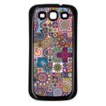 Ornamental Mosaic Background Samsung Galaxy S3 Back Case (Black) Front