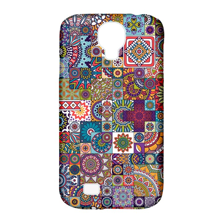 Ornamental Mosaic Background Samsung Galaxy S4 Classic Hardshell Case (PC+Silicone)