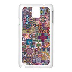 Ornamental Mosaic Background Samsung Galaxy Note 3 N9005 Case (white)
