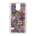 Ornamental Mosaic Background Samsung Galaxy S5 Case (White) Front