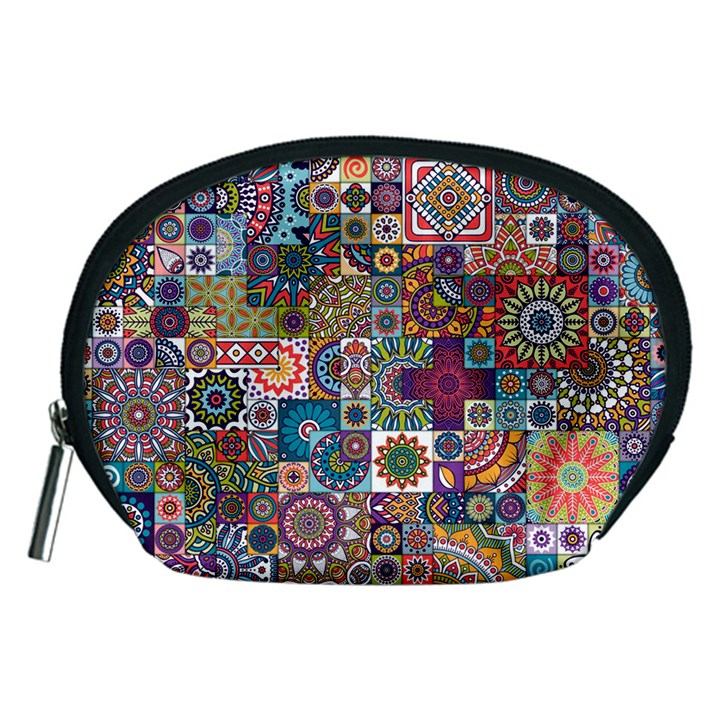 Ornamental Mosaic Background Accessory Pouches (Medium)