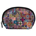 Ornamental Mosaic Background Accessory Pouches (Large)