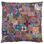 Ornamental Mosaic Background Large Flano Cushion Case (Two Sides)