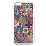 Ornamental Mosaic Background Apple iPhone 6 Plus/6S Plus Enamel White Case Front