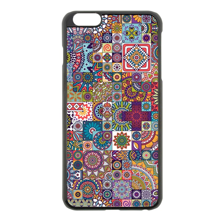 Ornamental Mosaic Background Apple iPhone 6 Plus/6S Plus Black Enamel Case