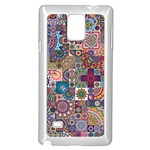 Ornamental Mosaic Background Samsung Galaxy Note 4 Case (White)
