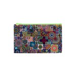 Ornamental Mosaic Background Cosmetic Bag (XS)