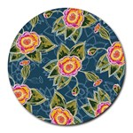 Floral Fantsy Pattern Round Mousepads