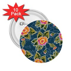 Floral Fantsy Pattern 2 25  Buttons (10 Pack)  by DanaeStudio