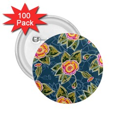 Floral Fantsy Pattern 2 25  Buttons (100 Pack)  by DanaeStudio