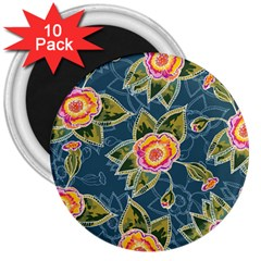 Floral Fantsy Pattern 3  Magnets (10 Pack)  by DanaeStudio