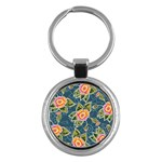 Floral Fantsy Pattern Key Chains (Round)