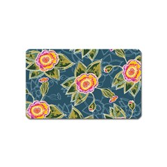 Floral Fantsy Pattern Magnet (name Card) by DanaeStudio