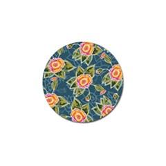Floral Fantsy Pattern Golf Ball Marker by DanaeStudio