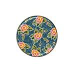 Floral Fantsy Pattern Hat Clip Ball Marker (4 pack) Front