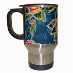 Floral Fantsy Pattern Travel Mugs (White) Left
