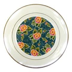 Floral Fantsy Pattern Porcelain Plates
