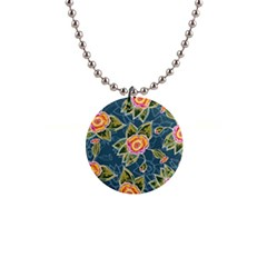 Floral Fantsy Pattern Button Necklaces by DanaeStudio