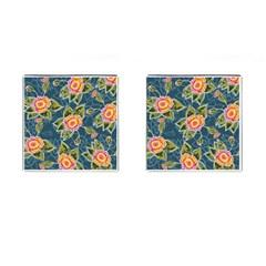 Floral Fantsy Pattern Cufflinks (square)