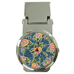 Floral Fantsy Pattern Money Clip Watches