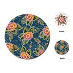 Floral Fantsy Pattern Playing Cards (Round)