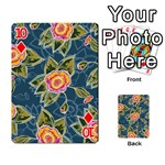 Floral Fantsy Pattern Playing Cards 54 Designs  Front - Diamond10