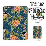 Floral Fantsy Pattern Playing Cards 54 Designs  Front - Club2