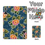Floral Fantsy Pattern Playing Cards 54 Designs  Front - Club10