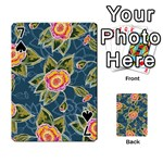 Floral Fantsy Pattern Playing Cards 54 Designs  Front - Spade7