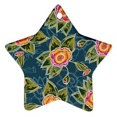Floral Fantsy Pattern Star Ornament (two Sides)  by DanaeStudio