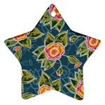 Floral Fantsy Pattern Star Ornament (Two Sides)