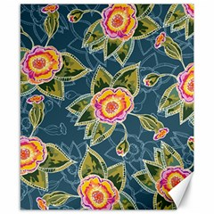 Floral Fantsy Pattern Canvas 8  X 10  by DanaeStudio