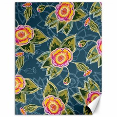 Floral Fantsy Pattern Canvas 12  X 16   by DanaeStudio