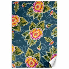 Floral Fantsy Pattern Canvas 12  X 18   by DanaeStudio
